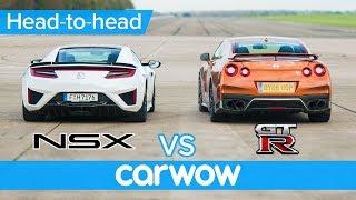 HondaAcuraNSXvsNissanGT-RDRAG&ROLLINGRACE+BRAKETEST|Head-to-Head