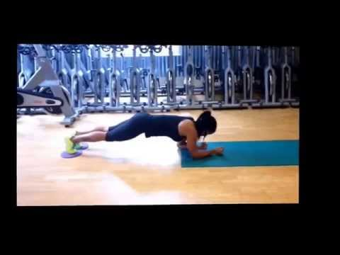 Core workout- with gliders/ sliders