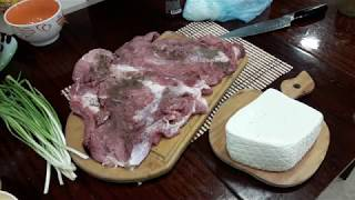 Запекаем фаршированное мясо   Bake stuffed meat
