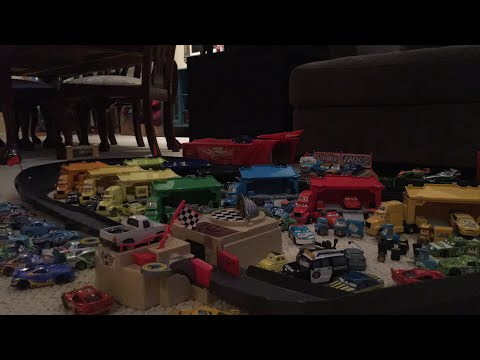 Pixar Cars Having Fun With The Amazing Piston Cup  Track With My Dad.