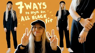 7 Ways To Style An All Black Outfit