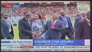 Wageni waliohudhuria kuapishwa kwa Rais Uhuru Kenyatta katika uwanja wa Kasarani