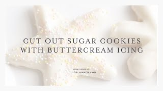 icing recipe for sugar cookies with butter