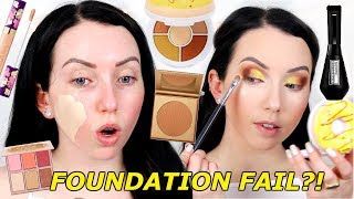 TONS OF FIRST IMPRESSIONS! Donut Eyeshadow Palette! Morphe Glamabronze, Tarte Concealer...