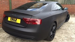 Audi A5 Wrapped Matte Black