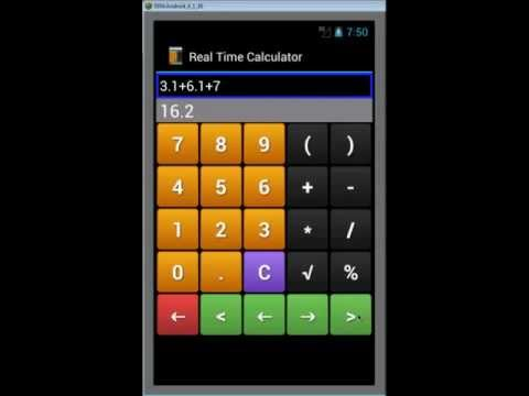 Video of Real Time Calculator