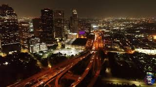Dji phantom 4PRO v2.0 ultra HD 4k en una noche Hermosa Houston Downtown