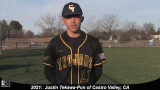 2021 Justin Tekawa Pon Catcher and Third Base Baseball Skills Video