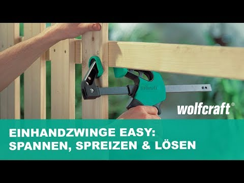 wolfcraft Einhandzwinge EASY (Art.-Nr. 3020000 - 3023000)