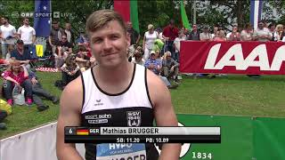 Decathlon 100m Heats - Gotzis 2019