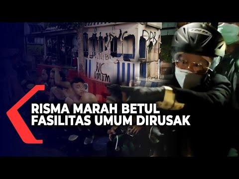 risma marahi pendemo yang sengaja rusak fasilitas umum kota surabaya