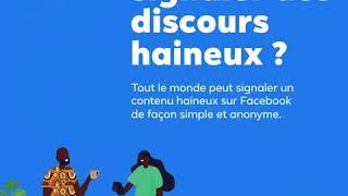 MESSAGE : Halte aux discours haineux sur Facebook !