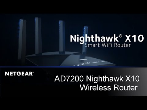 Nighthawk X10 AD7200 Smart Wireless Router Sizzle Video | NETGEAR