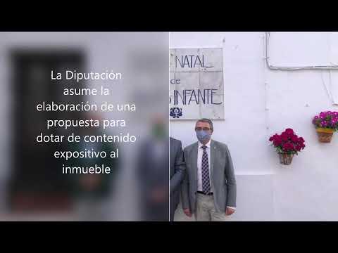 Firma del convenio entre la Junta de Andalucía, la Diputación de Málaga y el Ayuntamiento de Casares para la musealización de la Casa Natal de Blas Infante