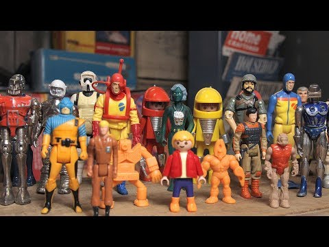 Old guy with a very soft voice shows his 80s action figures and makes cute jokes about them