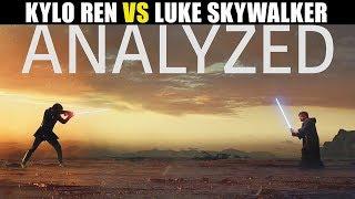 Kylo Ren Vs Luke Analyzed and Explained | Lightsaber Duels