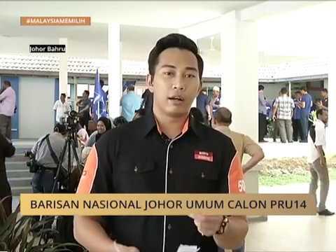 #MalaysiaMemilih: Barisan Nasional Johor umum calon PRU14