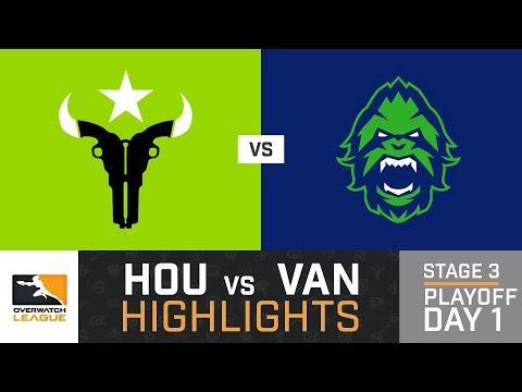 HIGHLIGHTS Houston Outlaws vs. Vancouver Titans | Stage 3 | Playoffs | Day 1 | Overwatch League