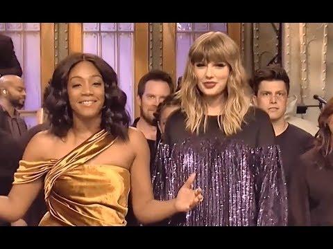 Taylor Swift and Tiffany Haddish on SNL Ending