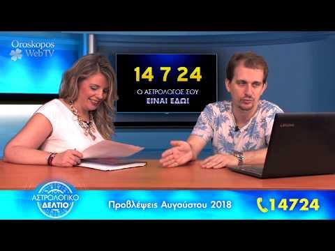 Αστρολογικό Δελτίο Αυγούστου 2018: Βίντεο Προβλέψεις