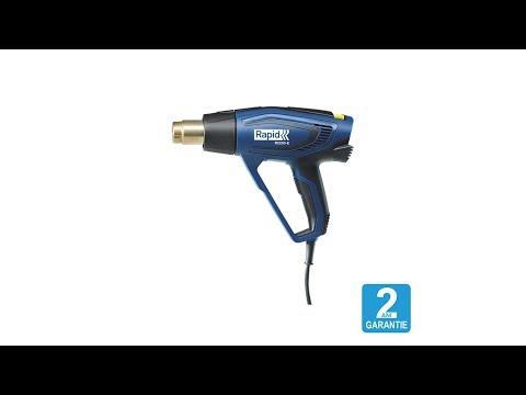 Pistol cu aer cald Rapid R2200-E, incalzitor ceramic, reglare electronica a puterii, putere 2200 W, debit 500 l/min, reglare debit aer in 3 trepte, temperatura 60°C/650°C, 2 ani garantie, 5001343