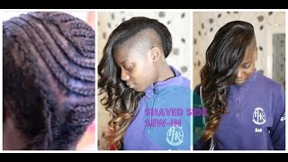 Shaved Side/Side Cut Sew-In By @IAmEllaGambia