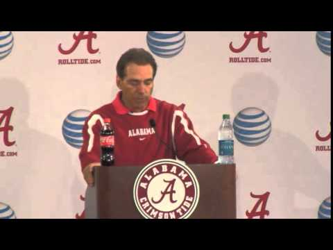 Nick Saban Press Conference Video, March 30, 2015