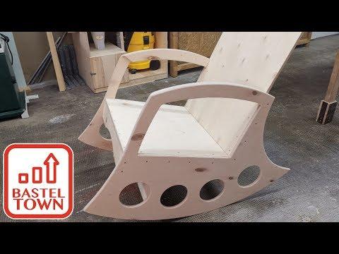 Schaukelstuhl Oberfräsen Projekt! Schaukelstuhl selber bauen mit der Oberfräse.