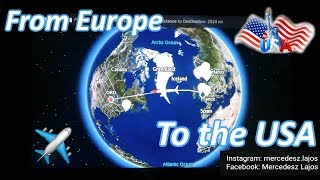 preview picture of video 'Traveling to the USA from Europe!'