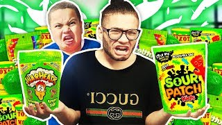 SOUR FOOD ONLY For 24 Hours - Challenge! (Winner Gets $10,000)