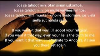"""Video thumbnail of """"Hector - Jos sä tahdot niin (with English lyrics)"""""""