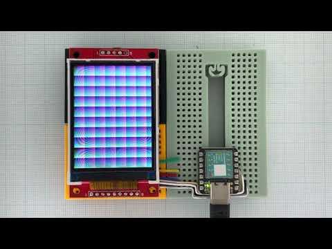 Arduino_GFX Seeeduino XIAO ILI9341