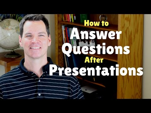 How to Answer Questions in a Presentation