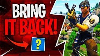 BRING IT BACK! (Fortnite Battle Royale)