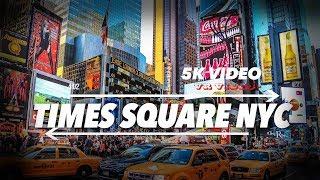 EXTRA 6K 360 VR Video Times Square Manhattan New York Downtow Manhattan 2018 USA NYC 4k