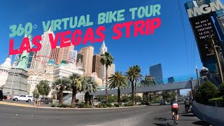 LAS VEGAS STRIP Coronavirus Pandemic Ride! 360° VR Cycling for Indoor Trainers & Exercise Bikes