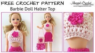 Doll Halter Top Free Crochet Pattern - Right Handed