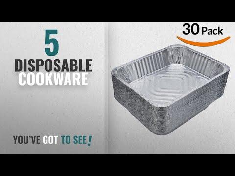 Top 10 Disposable Cookware [2018]: DOBI (30-Pack) Chafing Pans - Disposable Aluminum Foil Steam