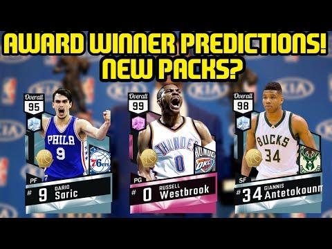 NBA AWARD WINNER PREDICTIONS! PINK DIAMOND WESTBROOK AND NEW PACKS? NBA 2K17 MYTEAM