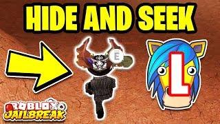 MyUsernamesThis VS KreekCraft HIDE AND SEEK! (Roblox Jailbreak)
