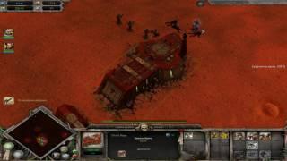 Warhammer 40,000: Dawn of War Soulstorm захват базы Эльдар.