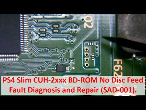 Download Video PS4 Slim CUH-2xxx BD-ROM No Disc Feed - Fault