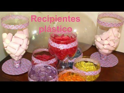 Cómo hacer recipientes de plástico para fiestas. DIY Party ideas containers | Recetas para fiestas