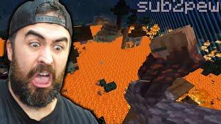 The Floor is Lava in Minecraft w/Pewdiepie