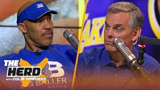 LaVar Ball on Lonzo being in trade rumors for AD, talks Lakers title hopes & LeBron | NBA | THE HERD