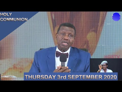 RCCG September 2020 Holy Communion by Pastor E. A. Adeboye – Livestream