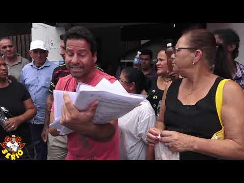 Wagnew o Fiscal do Povo na liderança do Protesto dos Moradores do Distrito dos Barnabés contra a Sabesp de Juquitiba