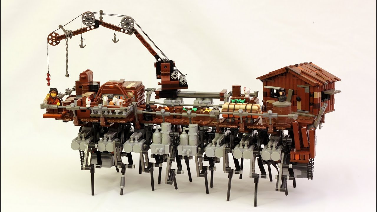 This Walking Steampunk Lego Ship Is The Perfect Combination Of Creepy And Cool