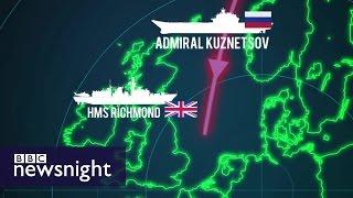 Russian Carrier Admiral Kuznetsov transits English Channel - BBC Newsnight