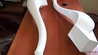 Видео - Мебельная резная ножка l-Gabriela